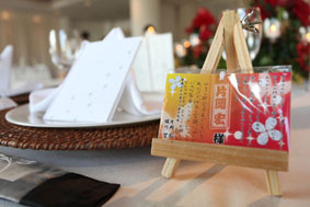 結婚式用席札